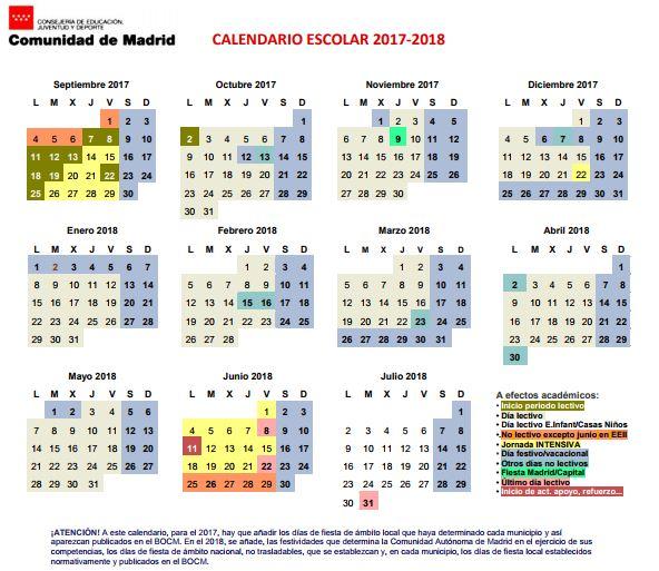 Calendario Del Madrid.Calendario Colegio Nuestra Senora De Loreto Madrid